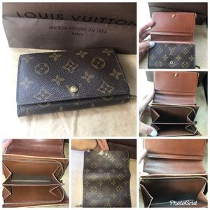 💯% Authentic Louis Vuitton Monogram Zip Wallet